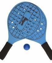 Groothandel actief speelgoed tennis beachball setje blauw met tennisracketmotief