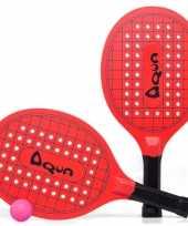 Groothandel actief speelgoed tennis beachball setje rood met tennisracketmotief