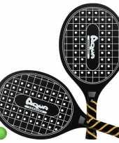 Groothandel actief speelgoed tennis beachball setje zwart met tennisracketmotief