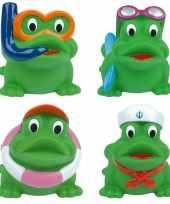 Groothandel badspeelgoed kikkers 4 stuks in tasje