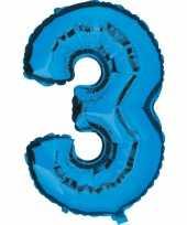 Groothandel blauw ballon cijfer 3 speelgoed