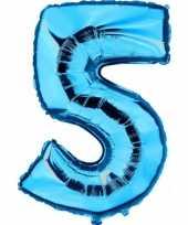 Groothandel blauw ballon cijfer 5 speelgoed