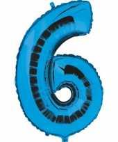 Groothandel blauw ballon cijfer 6 speelgoed