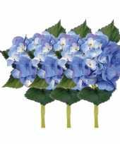 Groothandel blauwe hortensia met steel 48 cm speelgoed