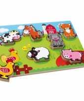 Groothandel boerderijdieren puzzels van hout speelgoed