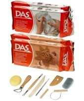 Groothandel boetseer klei pakken terra en wit met boetseergereedschap 8 delig speelgoed 10244998