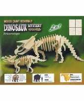 Groothandel bouwpakket van 2 dinosauriers speelgoed