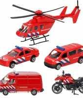 Groothandel brandweer wagens uitgebreide speelgoed set 5 delig die cast 10281515