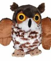 Groothandel bruine uilen vogelknuffels 12 cm knuffeldieren speelgoed