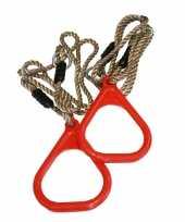 Groothandel buitenspeelgoed speeltoestel ringen rood 2 stuks 16 x 21 cm