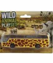 Groothandel bussafari speelgoed auto giraffe print