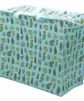 Groothandel cactussen print opbergzak 55 x 48 cm speelgoed knuffels opbergen