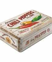 Groothandel chili peppers bewaarblik plat 23 cm speelgoed