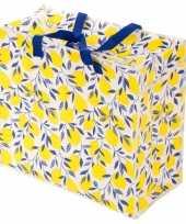 Groothandel citroenen print opbergzak 55 x 48 cm speelgoed knuffels opbergen