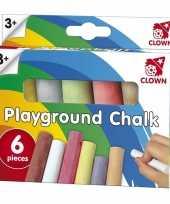 Groothandel clown stoepkrijt 6 stuks speelgoed