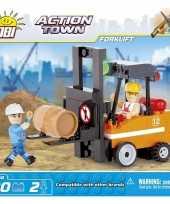 Groothandel cobi vorkheftruck bouwstenen pakket speelgoed