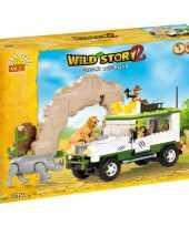 Groothandel cobi wild story jeep bouwstenen pakket speelgoed