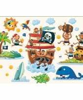 Groothandel decoratie muurstickers piraten eiland speelgoed