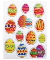 Groothandel decoratie stickers paasei 12 stuks speelgoed
