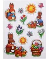 Groothandel decoratie stickers pasen 13 stuks speelgoed