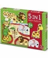 Groothandel dierentuin puzzels 5 in 1 speelgoed