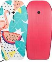 Groothandel flamingos speelgoed zwem bodyboard 93 cm voor jongens meisjes kinderen