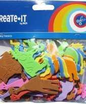 Groothandel foam diertjes dieren knutsel materiaal 192x stuks speelgoed