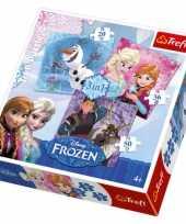 Groothandel frozen legpuzzels 3 stuks speelgoed