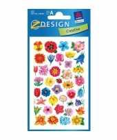 Groothandel gekleurde bloemen stickertjes 2 vellen speelgoed
