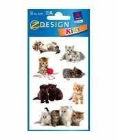 Groothandel gekleurde kitten stickertjes 3 vellen speelgoed