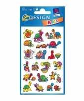 Groothandel gekleurde schildpad stickertjes 2 vellen speelgoed