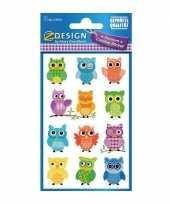 Groothandel gekleurde uilen stickertjes speelgoed