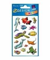 Groothandel gekleurde zeedieren stickertjes 2 vellen speelgoed