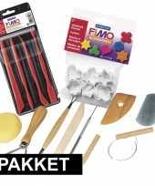 Groothandel gereedschap voor klei bewerken 18 stuks speelgoed