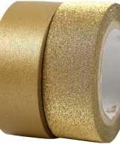 Groothandel glitter tape goud 2 rollen speelgoed