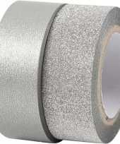 Groothandel glitter tape zilver 2 rollen speelgoed