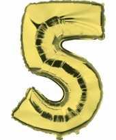 Groothandel gouden ballon cijfer 5 speelgoed