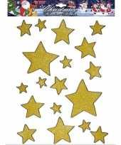 Groothandel gouden ster raamstickers 18 stuks speelgoed