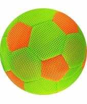 Groothandel groen met oranje mesh speelgoed bal voor kinderen 23 cm