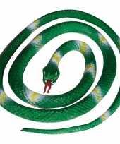 Groothandel groene speelgoed slangen 140 cm