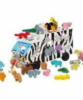 Groothandel houten abc blokkendoos met dieren speelgoed