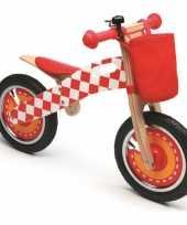 Groothandel houten loopfiets rood speelgoed
