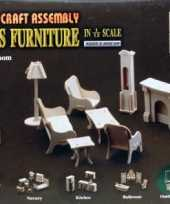 Groothandel houten poppenhuis meubels huiskamer speelgoed