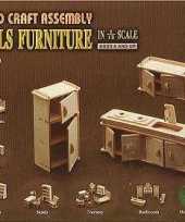 Groothandel houten poppenhuis meubels keuken speelgoed
