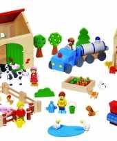 Groothandel houten speel boerderij speelgoed