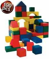 Groothandel houten speelgoed blokken 100 stuks