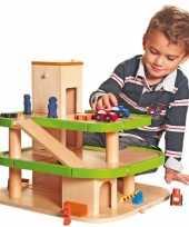 Groothandel houten speelgoed garages met lift
