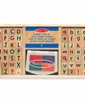 Groothandel houten stempelsetje alfabet speelgoed