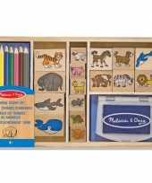 Groothandel houten stempelsetje dieren speelgoed