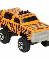 Groothandel jeepsafari speelgoed auto tijger print